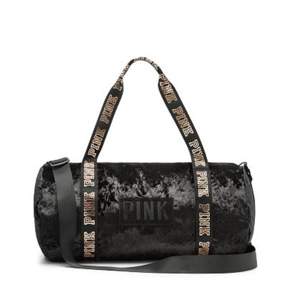 8895217d67917 Victoria's Secret PINK Velvet Sport Duffle Bag NWT